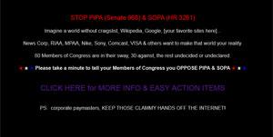 Craigslist apresenta mensagem de protesto para quem tenta acessar a página. Segundos depois, é possível acessar o serviço normalmente (Foto: Reprodução)