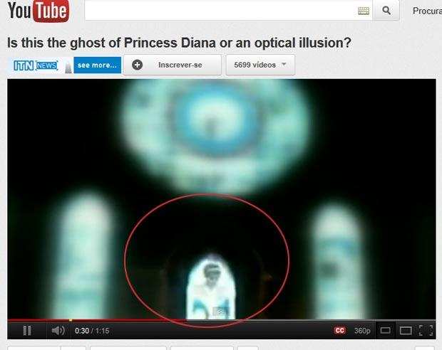 Vídeo foi filmado em uma igreja escocesa por turistas chineses. (Foto: Reprodução/ITN News)