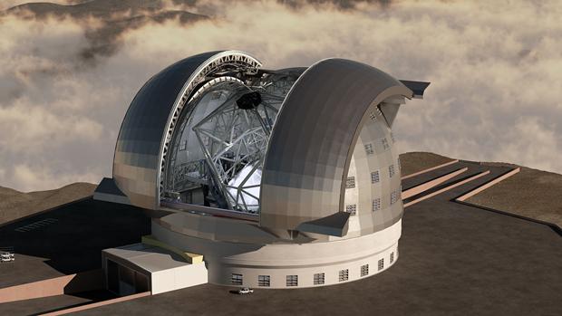 Ilustração mostra como será o Telescópio Europeu Extremamente Grande. (Foto: ESO)