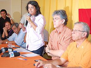 Estelizabel Bezerra é lançada como pré-candidata do PSB (Foto: Jhonathan Oliveira/G1)