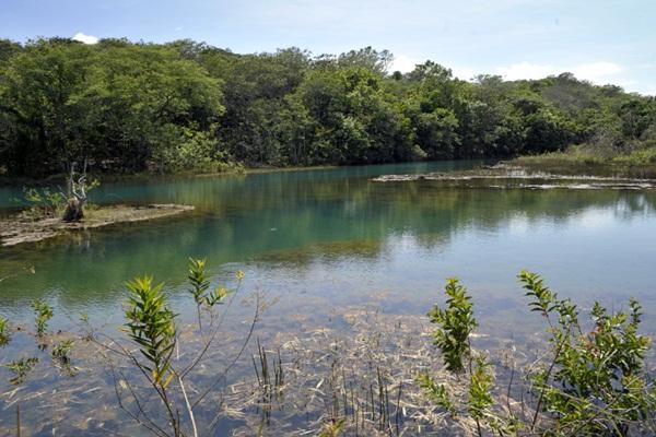 Nascentes do Rio Araguaia formam lagoa azul em Mineiros, Goiás (Foto: Divulgação/Adhemar Gomes)