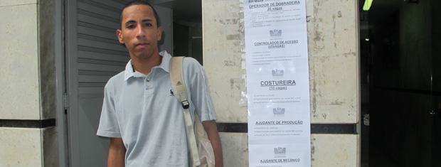 O paulista Ricardo Vitor Germano: aos 18 anos e disputado pelo mercado (Foto: Renato Jakitas/G1)