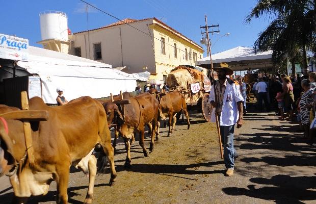 O tradicional Desfile dos Carreiros acontece há 11 anos em Trindade (GO), durante a Festa do Divino Pai Eterno (Foto: Divulgação/Tânia Mary Oliveira Carmo)