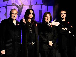 Os integrantes do Black Sabbath durante coletiva de anúncio do novo álbum (Foto: Divulgação/Facebook do Artista)