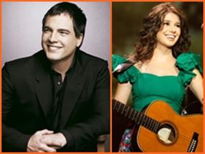 Daniel Boaventura e Paula Fernandes vão tocar juntos (Foto: Arte G1)