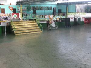 Quadra da Camisa Verde e Branco está malcuidada (Foto: Rafael Sampaio/G1)