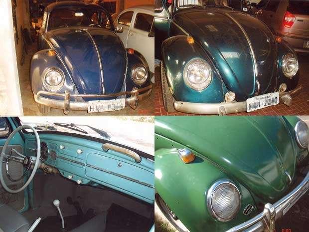 Modelos da coleção do aposentado; o Fusca verde 1969 é o preferido. (Foto: Antoônio Ribeiro/Arquivo pessoal)