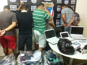 Segundo a PC, quadrilha era comandada por traficante de drogas de Coari (AM) (Foto: Carlos Eduardo Matos/G1 AM)