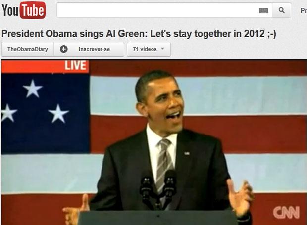 Obama solta a voz em Nova York (Foto: Reprodução/Youtube)