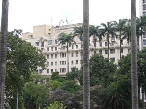 Hotel no centro era frequentado pela elite intelectual (Foto: Clara Velasco/G1)