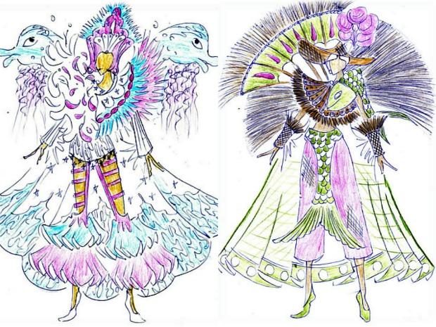 Carnavalesco apostou em tradição indígena para compor carnaval da Barreiros. (Foto: Divulgação/Barreiros)