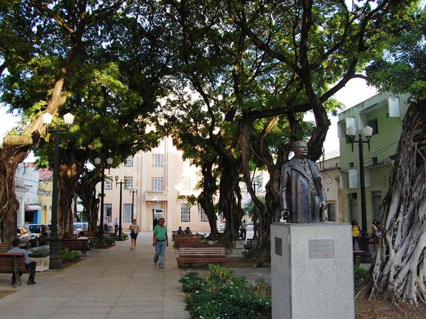 Praça Rio Branco (Foto: Rammom Monte / G1 PB)