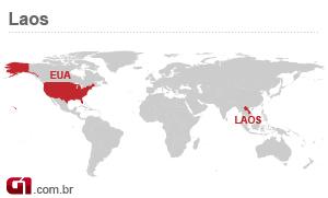 mapa laos transformadores (Foto: Arte/G1)