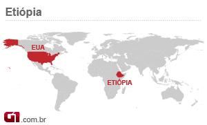 mapa transformadores etiópia (Foto: Arte/G1)