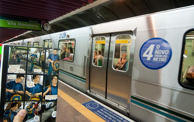 Esatação de metrô Trianon-Masp foi retratado na HQ 'Joquempô' (Foto: Flavio Moraes/G1)