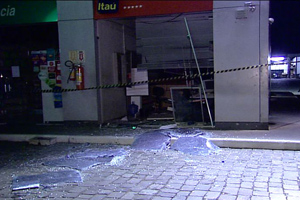banco explosão caixa eletrônico triunfo rs (Foto: Reprodução/RBSTV)