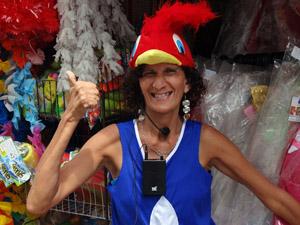 Fã de carnaval, Graça mistura prazer e trabalho. (Foto: Katherine Coutinho / G1)