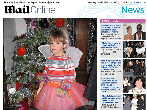 O menino Sasha, cujo sexo foi mantido em segredo por cinco anos por sua família (Foto: Daily Mail/Reprodução)