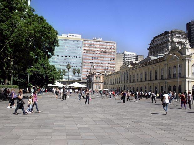 Centro de Porto Alegre terá sinalização viária (Foto: Jonathan Heckler/Divulgação PMPA)