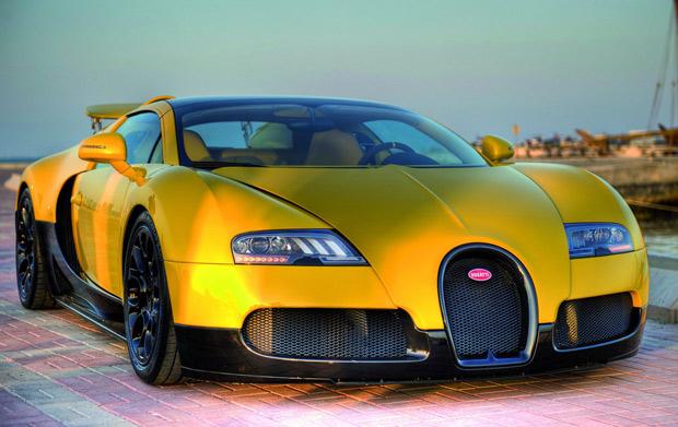 Bugatti Veyron 16.4 Grand Sport amarelo e preto (Foto: Divulgação)
