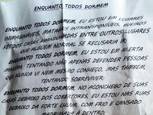 Imagem mostra trecho da carta escrita pelo PM (Foto: Divulgação/ PM)