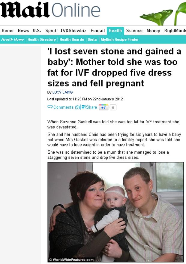 Mãe perde mais de 40 quilos para poder ter filho com fertilização in vitro