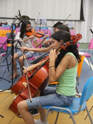 Os alunos do Projeto Guri realizam apresentações no final de cada semestre (Foto: Divulgação/ Assessoria de Imprensa)