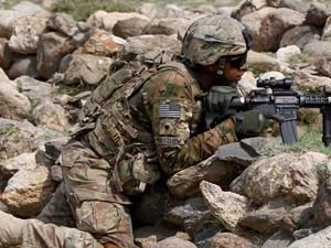 Farda usada por soldado americano no Afeganistão  (Foto: André Durão/G1)