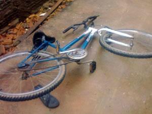 bicicleta ataque onça (Foto: Weihlan Araújo/Arquivo pessoal)