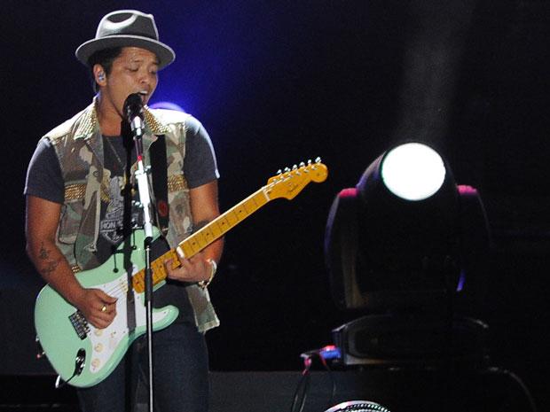 Bruno Mars deixou o público feminino aos berros durante show em SP (Foto: Flavio Moraes/G1)