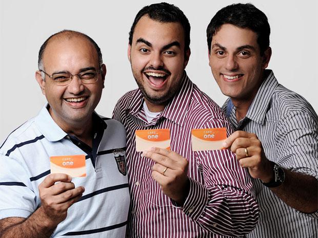 Rogério e Apolo Lira, Rafael Aredes, os sócios da Easy Food que conseguiram cinco investidores anjo no Rio de Janeiro (Foto: Divulgação/Easy Food)