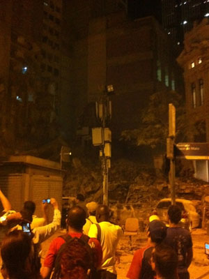 Building collapse late Wednesday in Rio de Janeiro 25 January 2012