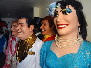 Bonecos gigantes fazem parte da tradição de Olinda. (Foto: Katherine Coutinho / G1)