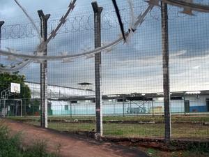 Vista geral de quadra esportiva do Caje, que fica no final da Asa Norte (Foto: Jamila Tavares / G1)