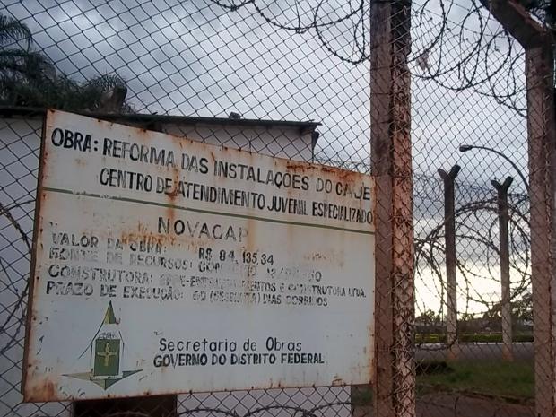 Para promotor da infância e da juventude, reformas feitas no Caje não amenizaram desconforto dos internos (Foto: Jamila Tavares / G1)