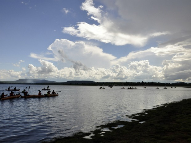 Lago de Manso  - MT (Foto: Leandro Nascimento/G1)