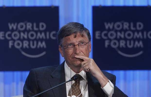 O fundador da Microsoft, Bill Gates, participa do Fórum Econômico Mundial (Foto: Reuters)