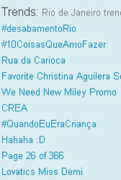 Trending Topics no Rio &#224;s 12h05 (Foto: Reprodu&#231;&#227;o)