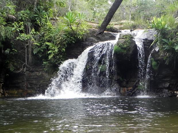 Cachoeira do Pulo abre o circuito de sete cachoeiras localizadas dentro do Parque Nacional (Foto: Dhiego Maia/G1)