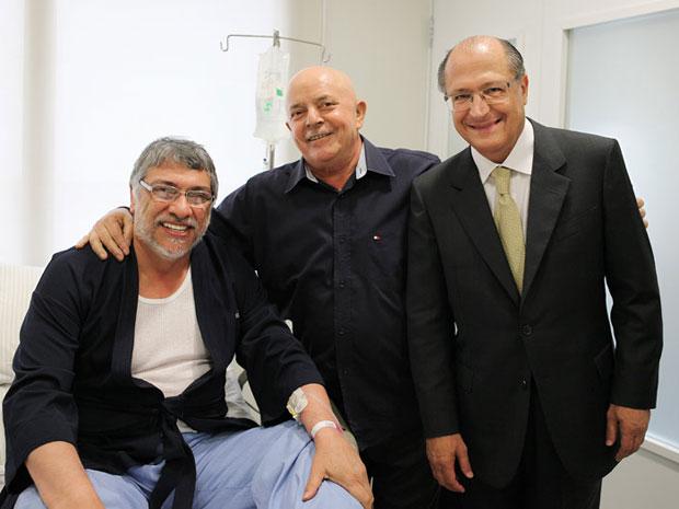 Lula recebe visita de Lugo e Alckmin no Sírio-Libanês (Foto: Ricardo Stuckert/Instituto Lula)