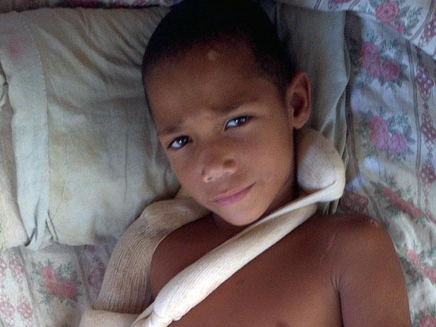 Kaic Pereira, criança atropelada na avenida Luciano das Neves, em Vila Velha  (Foto: Bruno Faustino/ TV Gazeta)