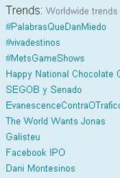 Trending Topics no mundo, 17h15 (Foto: Reprodução)