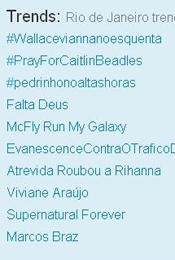 Trending Topics no Rio às 17h20 (Foto: Reprodução)