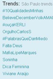 Trending Topics em SP às 17h47 (Foto: Reprodução)