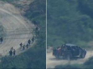 Fuga de traficantes do Alemão (Foto: Reprodução/TV Globo)