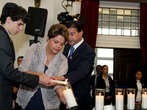President Dilma Rousseff pays tribute to Holocaust victims in Salvador
