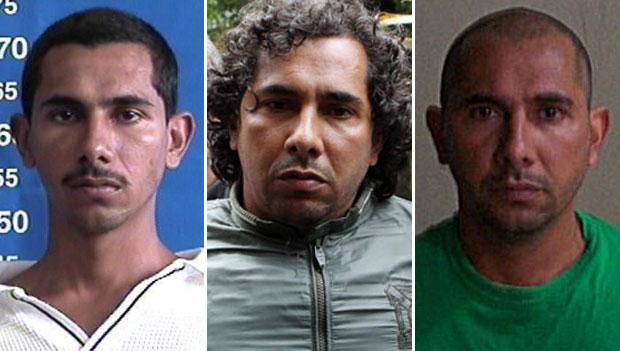 O traficante FB, preso e levado ao Rio de Janeiro (Foto: Disque-denúncia; Alexandre Cassiano/Agência O Globo; Divulgação/Seap)