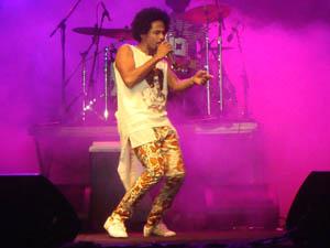 Show de Magary Lord no Festival de Verão 2012 (Foto: Jairo Gonçalves/G1)