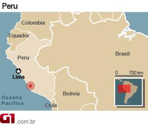 mapa terremoto peru (Foto: AP)