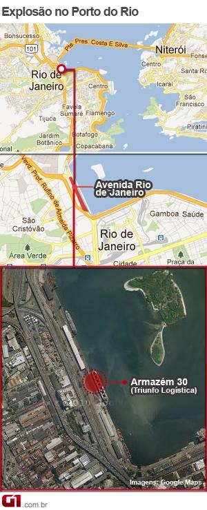 Mapa Cais do Porto (Foto: Arte/G1)